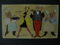 Image of [Two chefs, waitress and a waiter] - Patterson, Russell, 1893-1977