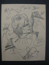 Image of [42 pages of lecture? notes and sketches and 1 photograph about theatrical caricature] - McVey, Kevin, 1928-2011
