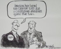 Image of Americans hate burned tuna casserole! Let's draft a constitutional amendment against that too!... - Luckovich, Michael, 1960-