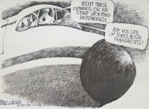Image of Accept these demandsm or we start shooting passengers!!... - Luckovich, Michael, 1960-