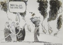 Image of Whew! I'm glad that one's out! - Luckovich, Michael, 1960-