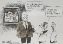Image of 30 years ago, I did the first moon walk... - Luckovich, Mike, 1960-