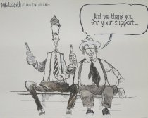 Image of And we thank you for your support... - Luckovich, Mike, 1960-