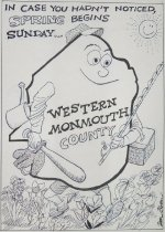 Image of In case you hadn't noticed, Spring begins Sunday... Western Monmouth County. - Bloom, Don, 1932-