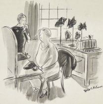 "Image of ""Madam's face is too large. We must break it up."" - Hokinson, Helen Elna, 1893?-1949"