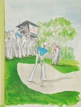 Image of TV sports [golfer at a golf tournament] - Saxon, Charles, 1920-1988