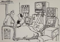 Image of 'Actually, Doctor, he was perfectly fine until he got his health insurance premium increase...'' - Schorr, Bill, 1947?-
