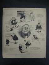 Image of [Folder of cartoons drawn by Kaige while taking the W.L. Evans School of Cartooning course] - Kaige, Henry, 1882-1957