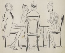 Image of [Two couples sitting at a table] - Plummer, Ethel McClellan, 1888-1936