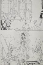 Image of [Artwork for 4 pages of  'Elric of Melniboné'] - Russell, P. Craig, 1951-