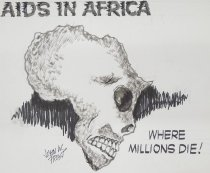 Image of AIDS IN AFRICA Where Millions Die! - Frost, John William