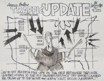 Image of American Online traffic update - Handelsman, Walt, 1956-