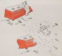 Image of [Little Oscar's First Raid, illustration] - Fabres, Oscar, 1894-1960