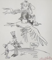 "Image of ""...and if we continue to limit our strategic arms they promise to stay out of Lake Erie, the Vatican and Disney World."" - Lane, John Richard, 1932-"