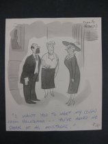 """Image of """"I want you to meet my cousin from Philadephia [sic]..."""" - Beaven, Frank, 1907-1975"""