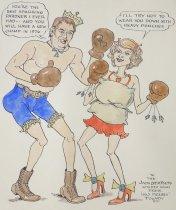 Image of Jack Dempsey starts training again. - Fogarty, Frank, 1887-1978