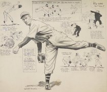 """Image of """"...Carl Hubbell has been a prime factor in their climb to first place..."""" - Mullin, Willard, 1902-1978"""