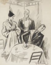 """Image of """"Its a habit he got from playing poker."""" - Shellhase, George, 1895-1988"""