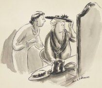 """Image of """"But, Madam, they're not supposed to stay on."""" - Hokinson, Helen Elna, 1893?-1949"""