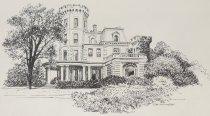 Image of Ward's Castle, Rye Brook, NY. Home of Museum of Cartoon Art 1977-1992 - Murphy, John Cullen, 1919-2004