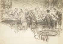 Image of [Two couples standing at a bar drinking] - Morgan, Wallace, 1873-1948