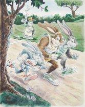 Image of [Three rabbits racing] - Pittman, Jack, 1952-