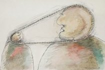 Image of [Large head connected to a small head with a bicycle chain] - Mirodone, Nicolae