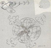 Image of [Bombing the world] - Navon, Arieh, 1909-1996