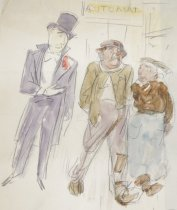 Image of Idea for New Yorker Cover - Flagg, James Montgomery, 1877-1960