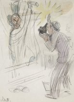 Image of [Flash photographer taking a picture of a man in the shower] - Flagg, James Montgomery, 1877-1960