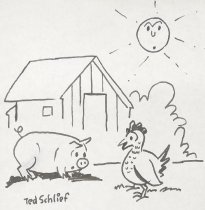 "Image of ""No, I haven't seen your egg you probably left it laying around some place."" - Schlief, Ted, 1900-1978"