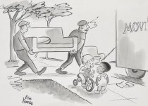 """Image of """"My Dad says the neighborhood is changing. Why aren't you moving away too?"""" - Yomen, Ben, 1911-2011"""