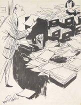 """Image of """"Never mind. I found it on my desk."""" - Von Riegen, William, fl. 1947"""