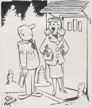 """Image of """"I guess I'll have to give you another date..."""" - Wyma, Peter, fl.1953"""