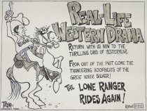 Image of Real-life Western drama....the Lone Ranger rides again! - Taylor, Mark L.