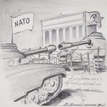 """Image of Stage setting for """"peaceful settlement"""" of Berlin issue. - Berryman, James, 1902-1976"""