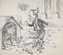 """Image of """"The boss says you can come out, now!"""" - Berryman, Clifford, 1869-1949"""