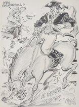 Image of Hold on dude!! ...Patriot Franz...at Denver... Sunday... - Bissell, Phillip, 1926-2000
