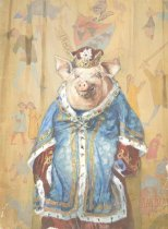 Image of [Portrait of a pig dressed as a king] - Beard, Daniel Carter, 1850-1941