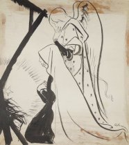 Image of [Virgin Mary and an angel adoring the baby Jesus in the manger] - Lebrun, Frederico, 1900-1964