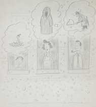 Image of [Child, mother and father look out the window at the first snow fall, thinking of Winter] - Gordin, Sid (Sivic)