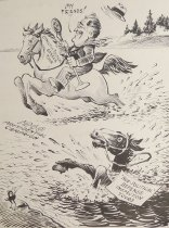 Image of Changing Horses While Crossing A Stream - Seibel, Frederick Otto, 1886-1969