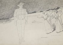 Image of - At the seashore - A ghost! Girls! A ghost! - Walker, Alanson Burton, 1878-1947