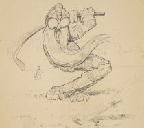 Image of On the links, where the tireless Goach... - Benson, John Prentiss, 1865-1947