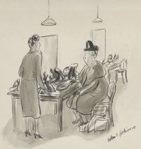 """Image of """"Could you just leave me alone with it for a while?"""" - Hokinson, Helen Elna, 1893?-1949"""