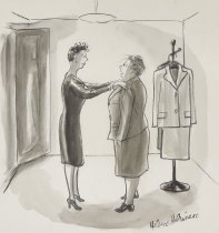 """Image of """"But can't you see I'm the dowdy type."""" - Hokinson, Helen Elna, 1893?-1949"""