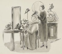 """Image of """"It's the kind of hat you can just put on and forget."""" - Hokinson, Helen Elna, 1893?-1949"""