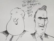 Image of [Bill Clinton and Bob Dole] - Wilkinson, Signe, 1959-