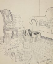 Image of Life's darkest moment - The hypochondriac buys a dog - Webster, H.T., 1885-1952