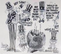 """Image of """"Hey Sam!"""" Thanksgiving 1981 - Lanigan, John P., 1922-2000"""